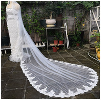Lace Cathedral Bridal Long Veil+ Comb 3 M(108' ' ) So...
