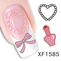 1PC Nail Art Sticker Funny Cat Bird Feather Design Water Tra...