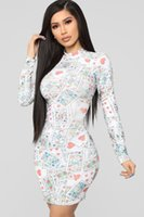 Designer Women Party Dresses Poker Printed Autumn Club Sexy ...