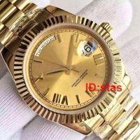 Homens de Ouro 18 k Genebra Assista Roman Dial Luxo Automático Daydate Moda Mens Relógios Reloj Relógios De Pulso