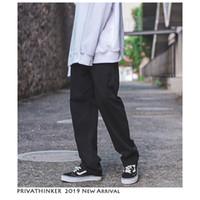 Privathinker Vintage Carga Calças Macacões Homens 2019 Mens Streetwear Harem Pants Masculino Hip Hop Modas Designer de Calças Retas SH190902