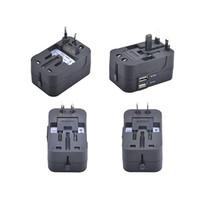 Adaptador universal de viaje universal 100-250V 6A US / EU / UK / AU Cargador de enchufe múltiple con USB dual 2 puertos