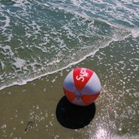 clone 15SS Inflatable Beach Ball red and white PVC beach Inf...