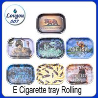 E Cigarette tray Rolling Tray Metal Cigarette Smoking Rollin...