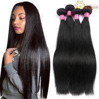 Норка бразильских прямых волос плетение 100% необработанные бразильские волосы девственницы прямые перуанские малазийские индийские наращивания волос человека