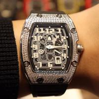 Лучшее издание 37-01 Extra Flat Steel Корпус с бриллиантами Рамка Скелетон Японии Miyota Автоматические мужские часы резиновые Дешевые Timezonewatch Cool E10