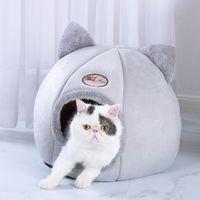 خيمة كلب البيت بيت الكلب شتاء دافئ عش لينة قابلة للطي النوم حصيرة نوعية القطن الجرو القطة سرير الجرو البيت GY