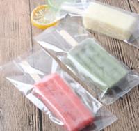 Ice Transparent dentelée en plastique crème Sac Opp Popsicle Paquet Pouch cuisson alimentaire Emballage 8 * 19cm