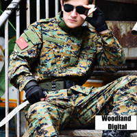 Woodland Digital Camouflage Suit Tactical Sets Army Uniform ...