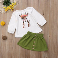 girl children Round collar Long sleeves cotton Ventilation F...