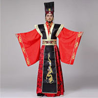 Male Emperor Costume The Qin Dynasty Imperial red dress wedd...