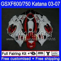 GSX600F Lucky Strike white For SUZUKI GSXF 600 750 GSXF600 2003 2004 2005 2006 2007 293HM.17 GSXF-750 KATANA GSXF750 03 04 05 06 07 Fairings