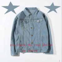 Giacca di jeans di moda Giacca Felpa con cappuccio Slim moto causale Uomini e Donne denim cappotti stile di Hip Hop Giacca di jeans ltt8081502