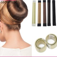 6 Couleurs DIY Outil Cheveux Accessoires Synthétique Perruque Donuts Bourgeon Tête Ballon Français Twist Français Magic Bun Maker Doux Cheveux Braider