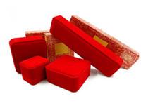 2018 nueva joyería de la pulsera roja caja de cajas anillo de embalaje de cajas de collar