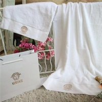 Fashion Three Pieces Towel Set Soft Cotton Beach Towel Embro...