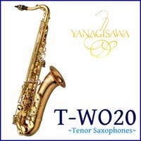 Sıcak Satış YANAGISAWA T-WO20 Bb Ayarlama Tenor Saksafon B Düz Pirinç Vernik altın Müzik aleti Profesyonel ile Kılıf Ücretsiz Kargo