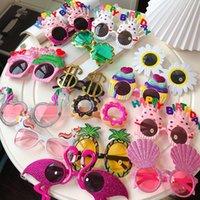 Karikatür Çocuklar Komik Güneş Gözlüğü Sevimli Yaratıcılık Mutlu Parti Gözlük Doğum Günü Pastası Dekorasyon Gözlük Erkek Kız Unisex Gözlükler Z1100