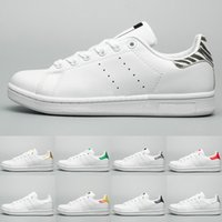 Moda Luxuey Designer Women Shoes 2019 Stan Smith White Leather Casual Shoes para hombre zapatillas de deporte del partido de las señoras zapatos de boda tamaño 36-45