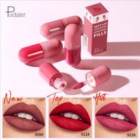 Pudaier 18 couleurs rouge à lèvres capsule maquillage des lèvres de rouge à lèvres mat rouge à lèvres longue durée de velours imperméable liquide lipkit mini-gloss pilule