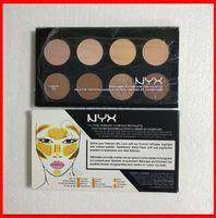 YENI Yüz Makyaj NYX Kontur paleti Vurgulamak 8 renk glitter paleti nyx kozmetik Bronzlaştırıcılar Fosforlu göz farı