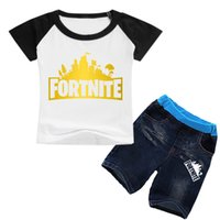 Fortnite Suit hort Sleeve T- shirt + Jeans Shorts