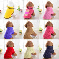 Pet Dog Knitted Sweater Navy Winter Warm Dog Clothes For Sma...