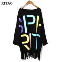 Nappa Hem maglietta Xitao modello della lettera di modo delle donne Pullover 2020 Primavera, Piccolo Corea del fresco nuovo elegante Minority Tee DMY2543