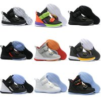 New James Soldier 13 Scarpe da pallacanestro XIII Triple Black White Gold Ice Blue Soldiers 13s Sneakers Trainer Taglia US 7-12