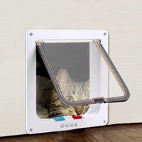 4 Way Lockable Dogs Cat Dog Security Gate Pet Flap Door Kitt...