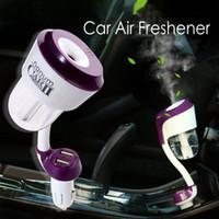 مرطب السيارة مع مزدوجة 2USB سيارة البخار لتنقية الهواء المعطر رائحة الناشر الضروري النفط الناشر ضباب صانع fogger HHA308