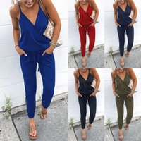 Women' s Clothing Women' s Jumpsuits Sexy spaghetti ...