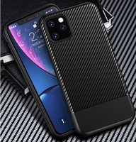 For iPhone X XS XR MAX 8 7 6 Plus Carbon Fiber Phone Case Si...
