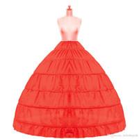 Stokta 2018 Balo Petticoat Ucuz Beyaz Siyah Kabarık Etek Jüpon Gelinlik Kayma Quinceanera Elbise Için 6 Çember Etek Kabarık Etek