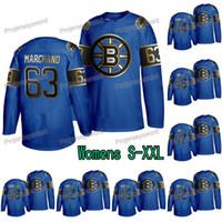 Kadın Boston Bruins Brad Marchand Babalar Günü Siyah Altın Kraliyet Jersey David Krejci Torey Krug Matt Grzelcyk Sean Kuraly Noel Acciari