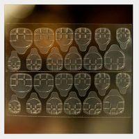 신부의 가짜 손톱 24 개 투명하고 방수 매직 스티커; 착용 네일 젤리 양면 접착을 위해 다시 접착제 스티커