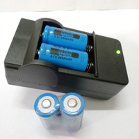 4pcs 16340 batería 2800mAh 3.7V Li-ion batería recargable + 1pcs US 16340 cargador de batería