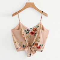 Top Crop Camisole V Neck Floral Print Tank Top Women' s ...