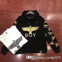 2019 spring new tide brand boy hot eagle eagle couple hooded...