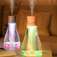 Creative Souhaitant Humidifier bouteille Beautiful Night lumière colorée de bureau Diffuseur mini USB Humidificateur cadeaux Creative