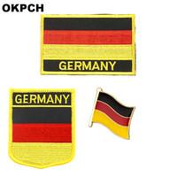 Almanya bayrağı yama rozeti 3 adet bir Set Giyim DIY Dekorasyon için PT0049-3 Yamalar