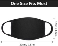 Designer Adjustable Anti Dust Face Mask Black Cotton for Cyc...
