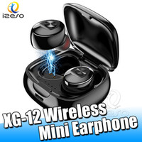 XG12 TWS In Ear Auricolari Real Stereo Bluetooth 5.0 Wireless Mini Auricolari Sport Auricolare per iPhone Samsung con custodia di ricarica izeso