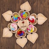 Festa arco-íris multi-colorido cor rosa flor pétala sabão coração caixa caixa caixa dia dos namorados presente de presente de pele