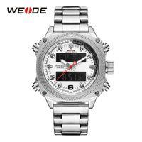 CWP 2021 WEIDE Horloges Mens Sport Auto Datum Week Display Digitale Quartz Roestvrijstalen Band Riem Polshorloge Zwart Klok Relogio Masculino Hour