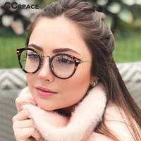 Cat Eye Round Glasses Frames Men Women Metal Frame Optical F...