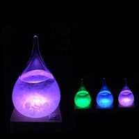 Previsão Garrafa de água Gota de vidro de garrafas Mudando a cor do vidro de garrafas Present Day Home Décor dos Namorados