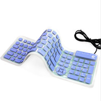 Kreative Mode Falten tragbare USB-Kabel weiche Tastatur staubdicht wasserdicht stumm Notebook Desktop-Silikon-Gaming-Tastatur Smart Office
