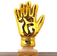 1502ce4d8 New Arrival. 10 Inches Height Soccer Football Resin Goalkeeper Golden Glove  Award World Cup Trophy ...