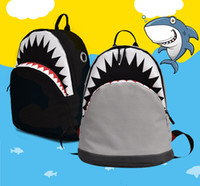 أكياس الأزياء حقيبة الأطفال شخصية القرش الأطفال المدرسية حقيبة الظهر الكرتون قماش طلاب المدارس الابتدائية 2 حقيبة الظهر